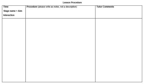 Celta Lesson Plan Template by How To Write Celta Lesson Plans Elt Planning