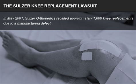 sulzer knee replacement lawsuit defective products impact