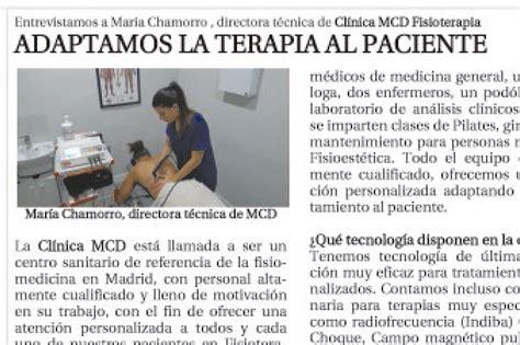 Comentarios De Noticias Y Articulos Articulo En La Raz 211 N Clinica Mcd Cl 237 Nica De Fisioterapia Y Medicina En Madrid