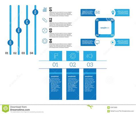 banner workflow vector infographic elements set stock vector image 63879380