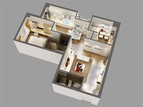 Detailed House Cutaway 3d Model 3d Model Max Cgtrader Com House Plans With 3d Interior Images