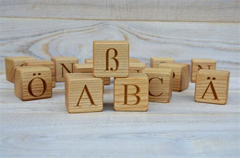 Handmade Wooden Blocks - 45 00 usd 30 wooden german alphabet letter blocks
