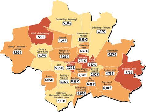 wohnung mieten wo die g 252 nstigsten mieten im stadtviertelvergleich wo