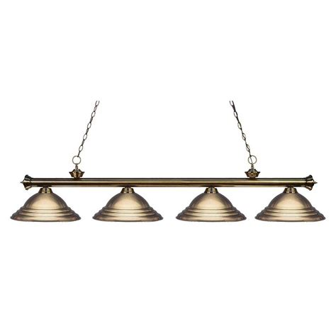 Antique Island Lighting Filament Design Coastal 3 Light Antique Brass Island Light Cli Jb 43006 The Home Depot