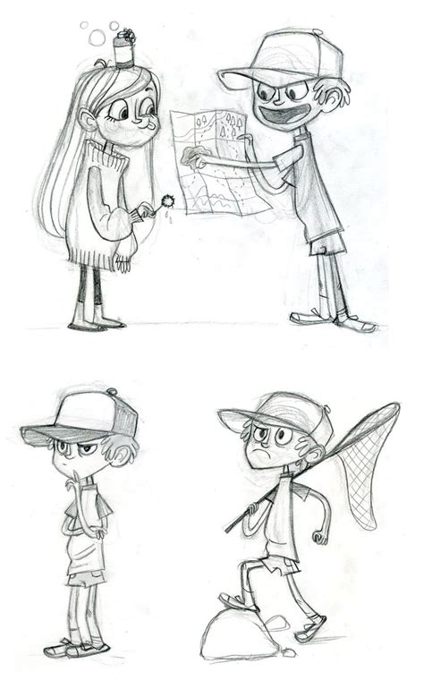 Sketches Channel by Character Designs De Gravity Falls Do Disney Channel
