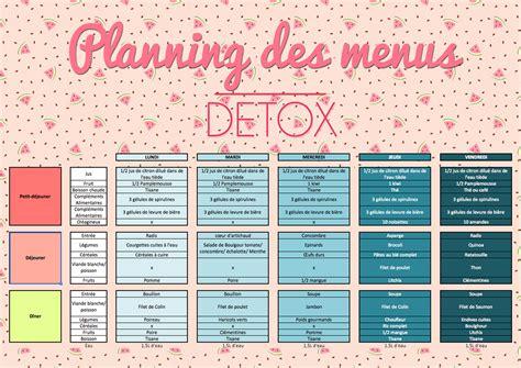 Menu Detox by Menu Regime Detox R 233 Gime Pauvre En Calories
