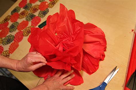 How To Make Tissue Paper Poppies - how to make a magical paper flower poppy garden