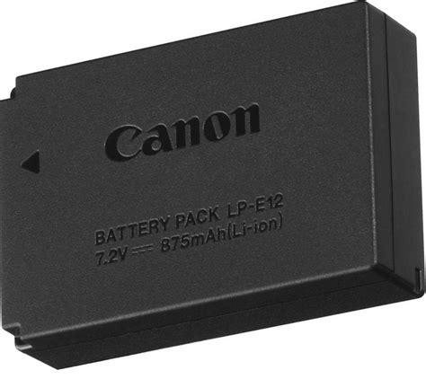 Canon Battery Lp E12 canon lp e12 lithium ion battery pack 6760b002 163 33 17