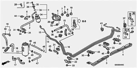 1999 honda civic diagram showing brake line honda civic 96 00 undercar fuel line exact size honda tech honda forum discussion