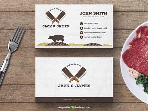 food business card template steak restaurant business card template freebcard
