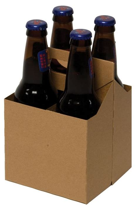 4 pack bottle carrier template these kraft 4 pack cardboard carriers will fit any 12 oz