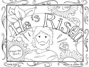 he is risen coloring page he is risen coloring pages