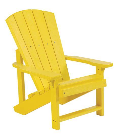 generations yellow adirondack chair from cr plastic