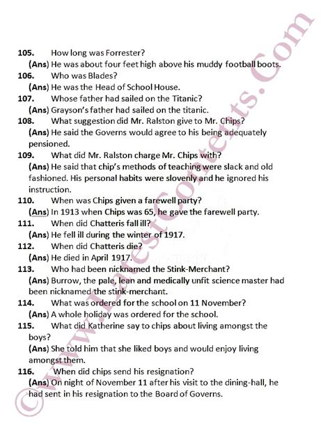 esl questions about new year mr chips important questions answers 2nd year notes