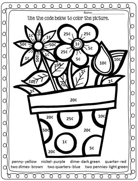 Addition Coloring Page 2nd Grade by Pictures Color By Number Math Worksheet