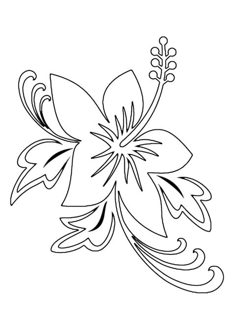 free coloring pictures of tropical flowers coloring pages hawaiian flower coloring pages printable