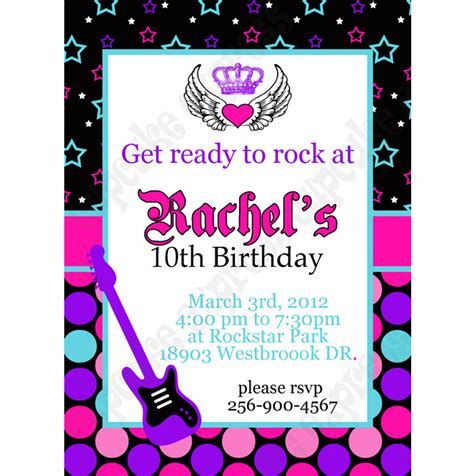 free printable rockstar birthday invitations rockstar printable invitation 1