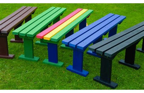 recycled plastic benches for schools recycled plastic sturdy bench three seat