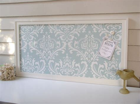bulletin memo board magnetic organizer shabby chic framed magnet board with robins egg blue