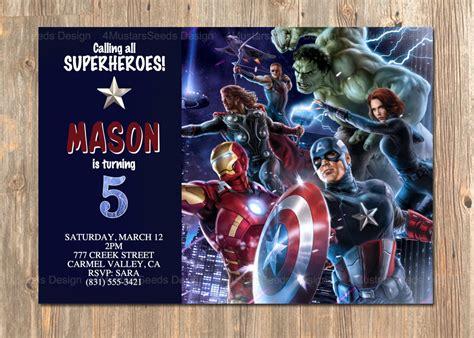 printable invitations avengers avengers birthday invitation avengers invite avengers