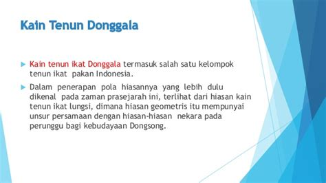 Sarung Donggala 50 deskripsi motif perawatan tenun ikat pakan sulawesi tengah