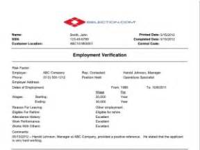 Employment Background Check Sample Report Employment Verification Check Selection Com