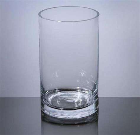 Cylindrical Glass Vases by Pc508 Cylinder Glass Vase 5 Quot X 8 Quot 12 P C Cylinder Glass