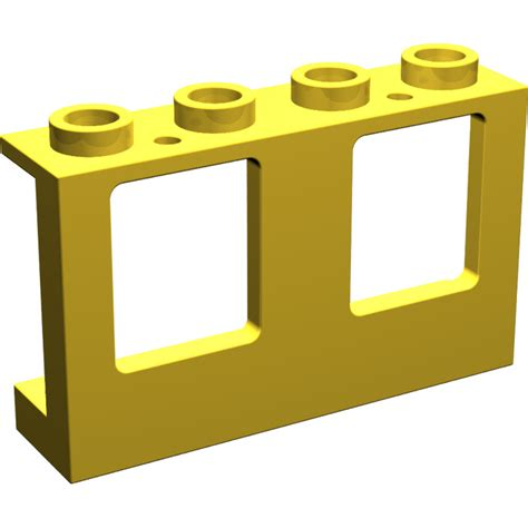 Lego Part Yellow Window 1 X 2 X 3 Pane With Thick Corner Tabs lego yellow plane window 1 x 4 x 2 4863 brick owl lego marketplace
