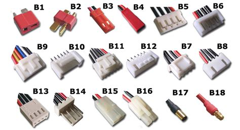 list different types of wiring accessories used in electrical wiring battery connector lipo balance plugs a balance