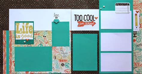 scrapbook layout three photos heatherjanedesign chalk it up scrapbook layout 3