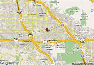 map of burbank travelodge burbank