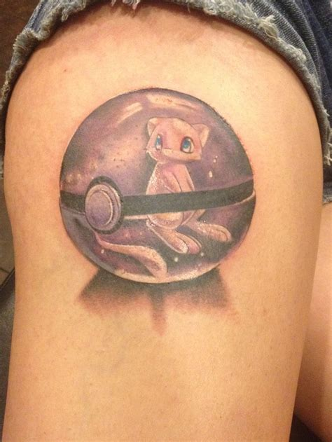mew tattoo mew in a pokeball tattoos