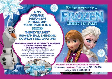 Decorate Your Home Ideas by Frozen Theme Tea Party Melbourne