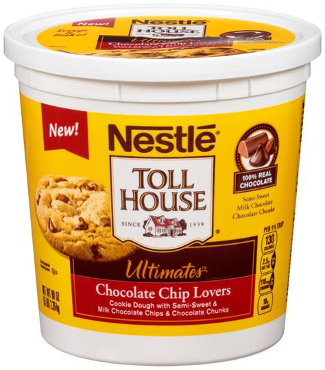 nestle toll house cookie dough tub nestl 233 toll house ultimates chocolate chip lovers cookie dough 80 oz tub reviews