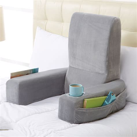 bed reading pillow with arms nap bed rest at brookstone buy now
