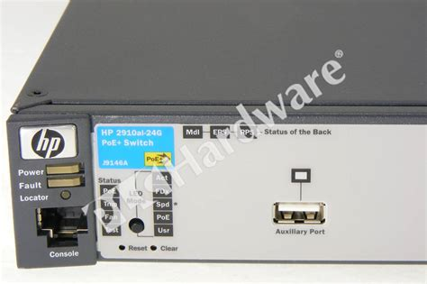 Hp J9146a Switch plc hardware hp procurve j9146a switch 2910 24g poe 20 ge t 4 dp 2 if