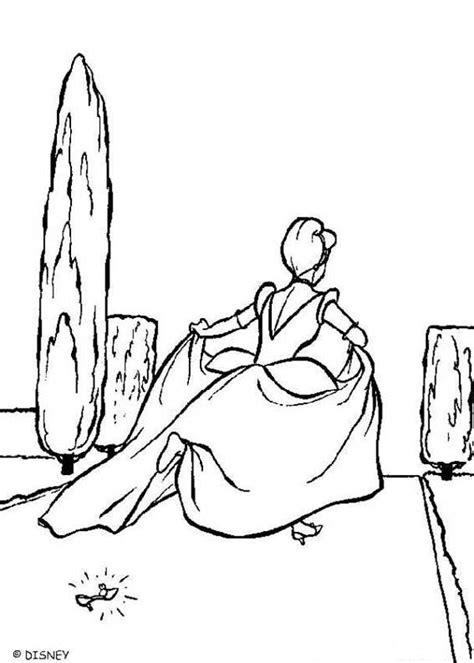 cinderellas slipper coloring pages hellokidscom