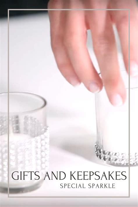 wedding gift keepsakes wedding decoration diy tutorial rhinestone mesh wrap candle holders