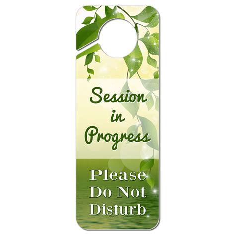 meeting in progress please do not disturb wood door hanger