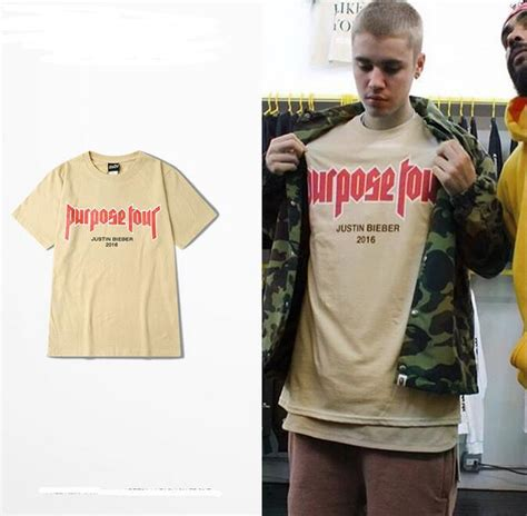 Kaos Justin Bieberjustin Bieber Tshirt justin bieber t shirts khaki for purpose tour t shirt 2016 my don t like you