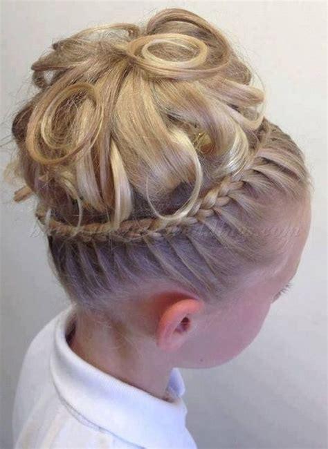 girl hairstyles bun hairstyles for flower girls flower girl updo wedding