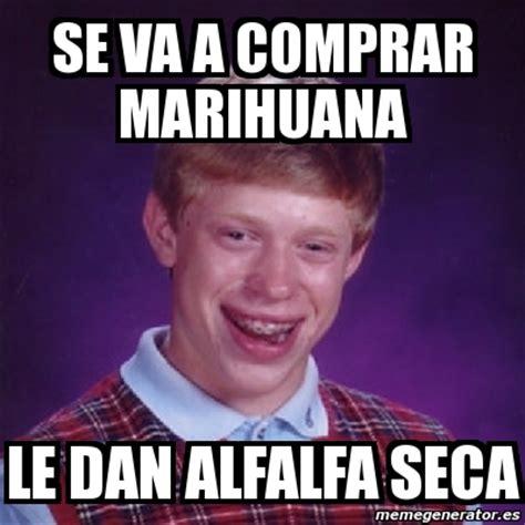 Alfalfa Meme - meme bad luck brian se va a comprar marihuana le dan