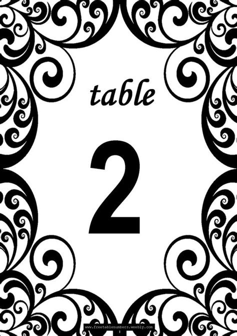 free table number templates free swirls printable diy table numbers free table