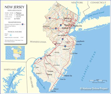 map new jersey capital of new jersey map