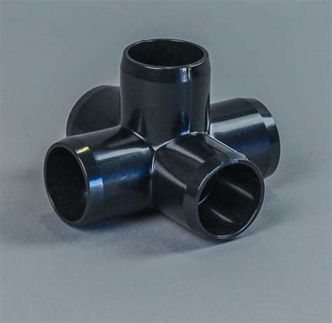 "1 1/4"" 5 way furniture grade pvc fitting c and s plastics"