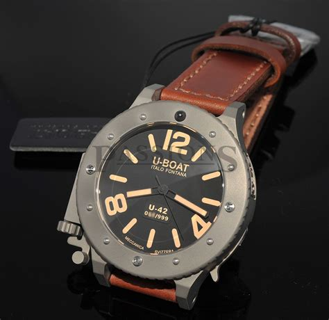 u boat watch repair u boat 53mm quot u 42 quot automatic limited edition of 999pcs in
