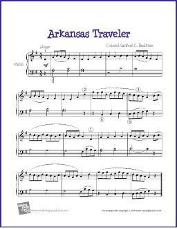 arkansas traveler | free easy piano sheet music