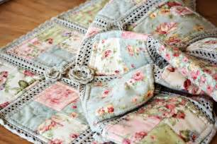 crochet and fabric quilt miss lizzy