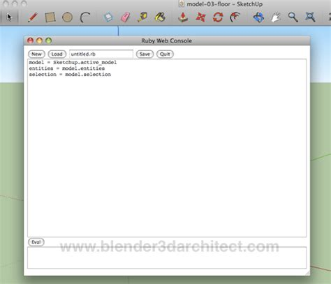 tutorial ruby sketchup advanced sketchup tutorial using ruby to filter