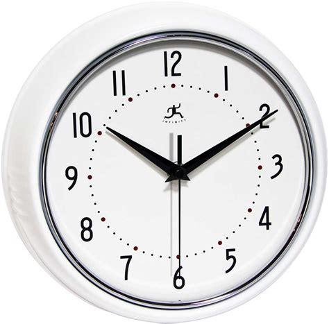 infinity retro wall clock retro white wall clock by infinity instruments metal